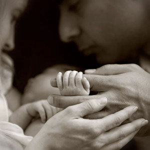 baby, newborn, hands and feet, relationship, black and white